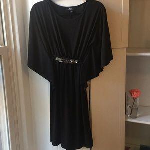 AGB Black Flutter Sleeve Dress